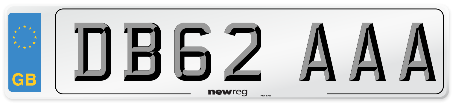 DB62 AAA Number Plate from New Reg